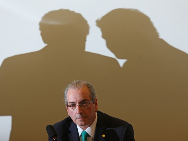 O deputado e presidente afastado da Câmara, Eduardo Cunha, durante depoimento no Conselho de Ética, na Câmara dos Deputados, em brasília (Foto: Dida Sampaio/Estadão Conteúdo)