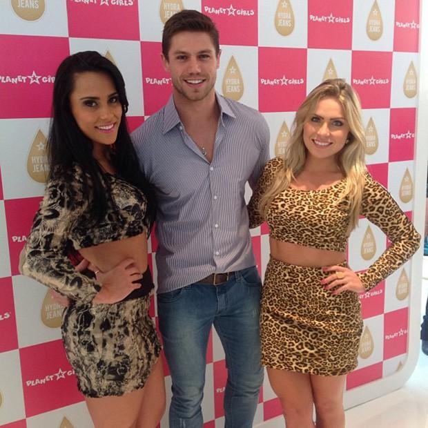 Os ex-BBBs Kelly, Jonas e Renatinha (Foto: Instagram / Reprodução)