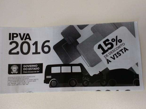 IPVA 2016 em MS (Foto: Adriel Mattos/G1 MS)