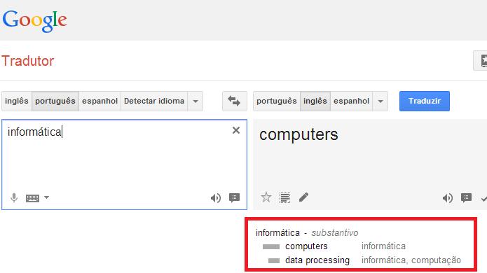 Entenda melhor a tradução com a ajuda do dicionário  (Foto: Reprodução/Edivaldo Brito)