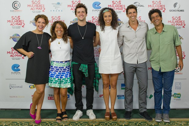 Fabiula Nascimento, Cris D'Amato, Gil Coelho, Thalita Carauta, Reynaldo Gianecchini e Julio Uchôa (Foto: Mariana Vianna / Divulgação)