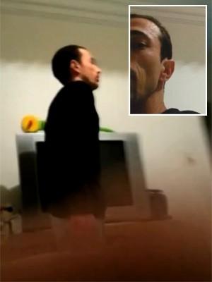 Vídeo mostra pai usando celular para filmar briga com Bernardo (Foto: Reprodução/G1)