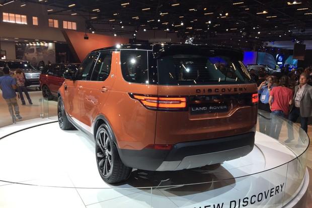 Land Rover Discovery no Salão do Automóvel 2016 (Foto: Guilherme Blanco Muniz/Autoesporte)