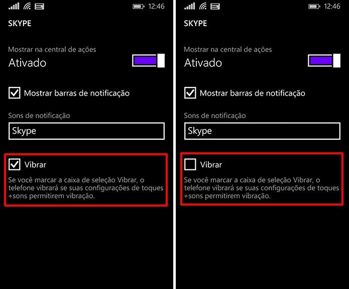 Windows Phone também pode ter vibração de notificações personalizadas por aplicativo (Foto: Reprodução/Elson de Souza)