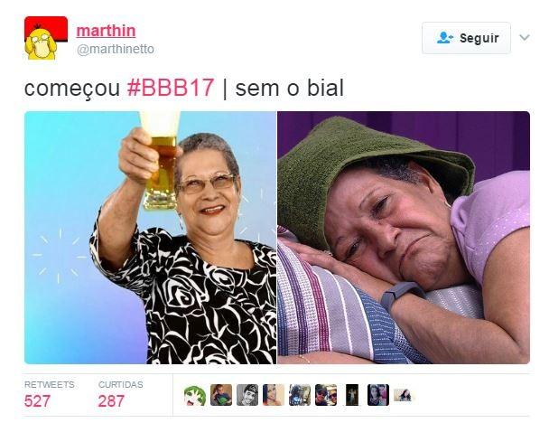 Estreia do BBB 17 rende memes na web (Foto: Reprodução/Twitter)