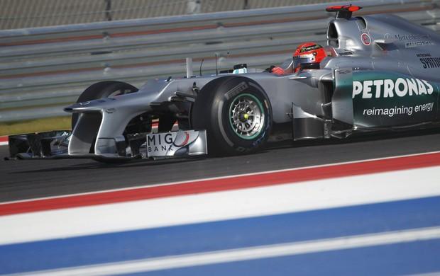 Michael Schumacher Fórmula 1 GP EUA (Foto: Reuters)