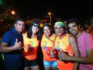 Os tradicionais blocos animaram o carnaval em Grão Mogol. (Foto: Délio Pinheiro/G1)
