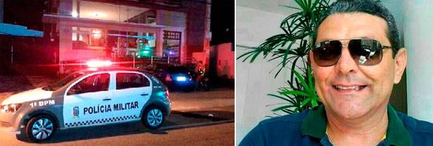 Ilfran André Tavares de Araújo, de 51 anos, levou dois tiros na cabeça dentro de uma padaria em Natal (Foto: Kléber Teixeira/Inter TV Cabugi e Arquivo da família)