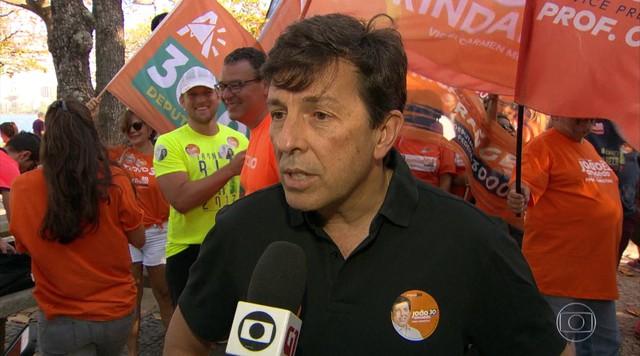 João Amoêdo cumpriu agenda no Rio de Janeiro no domingo (23)