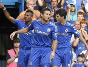 Ashley Cole Lampard Oscar Chelsea (Foto: AP)