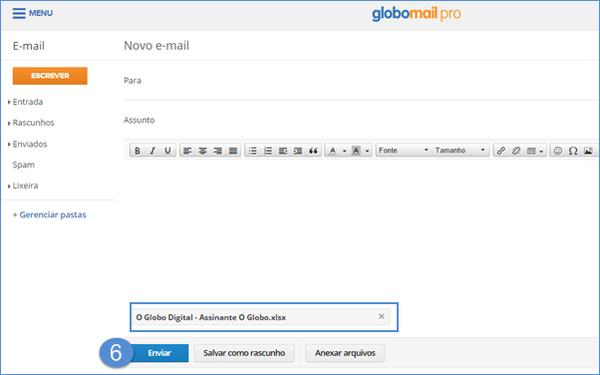Enviar e-mail com anexo (Foto: Enviar e-mail com anexo)