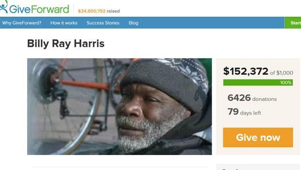 Após devolver aliança, sem-teto Billy Ray Harris vai receber recompensa de mais de R$ 300 mil (Foto: Reprodução)
