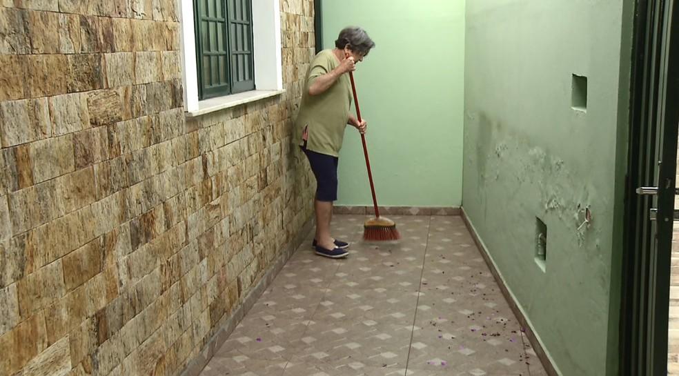 Moradores reclamam da fuligem eliminada pela indústria (Foto: Ronaldo Oliveira/EPTV)