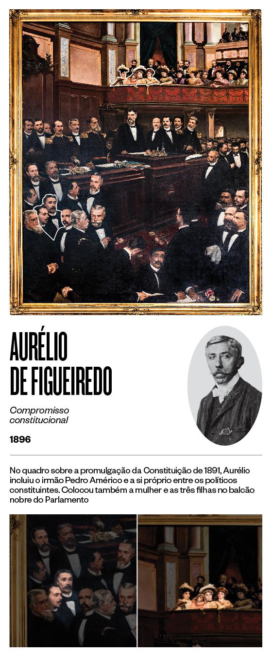 """""""Compromisso constitucional"""" - 1896 - Aurélio de Figueiredo (Foto: Stefano Martini/ÉPOCA e reprodução)"""