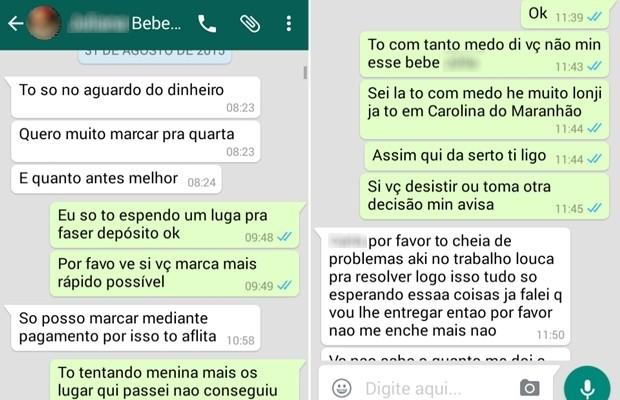 Mulher negociava compra de bebê por mensagens de celular, em Minaçu, Goiás (Foto: Divulgação/Polícia Civil)