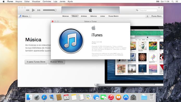 iTunes 11 no OS X Yosemite (Foto: Reprodução/Helito Bijora)