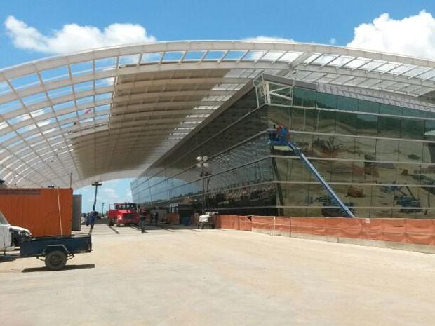 Início do funcionamento do aeroporto foi adiado para maio (Foto: Camila Torres/Inter TV Cabugi)