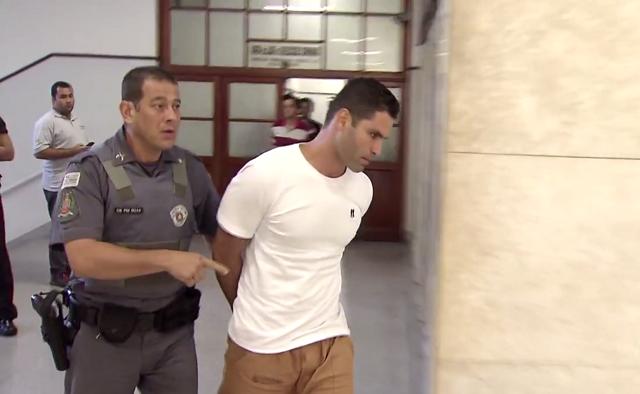 Thiago Batista de Barros confessou a autoria do crime ocorrido em 2015 (Foto: Reprodução/TV Tribuna)