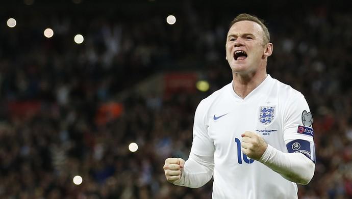 Wayne Rooney, Inglaterra x Suíça Eliminatórias Euro Gol 50 (Foto: Reuters)