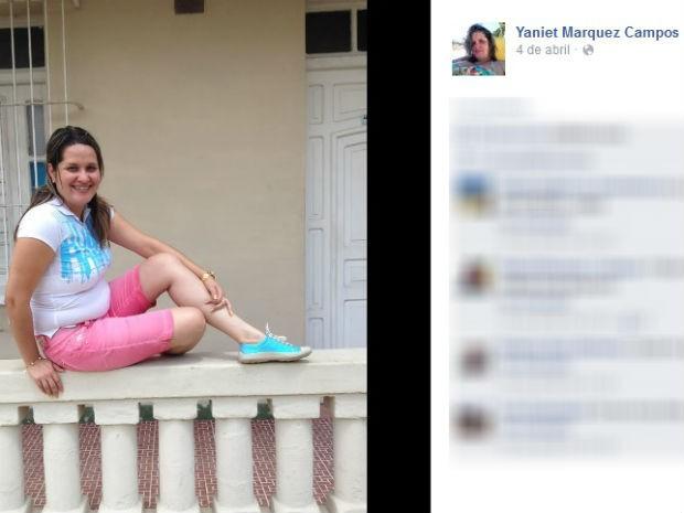 Yaniet Marquez Campos, de 31 anos, foi encontrada morta pelo marido (Foto: Reprodução/Facebook)