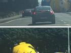 Minion inflável gigante provoca caos após cair em rodovia na Irlanda
