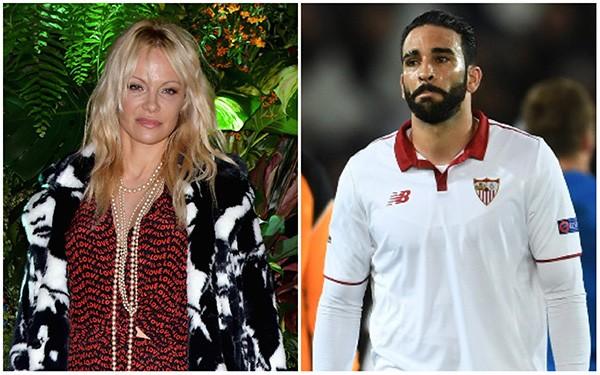 Pamela Anderson e Adil Rami (Foto: Getty Images)