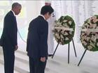 Primeiro-ministro do Japão visita memorial de Pearl Harbour, nos EUA