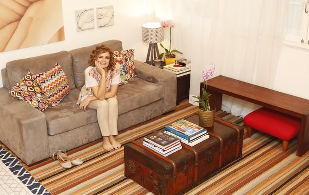 Micaela Góes mostra a decoração de sua casa (Foto: Marcos Serra Lima / Ego)