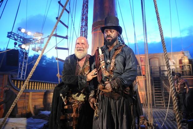 Piratas vão ser um destaque na novela Novo Mundo (Foto: Globo/João Miguel Júnior)