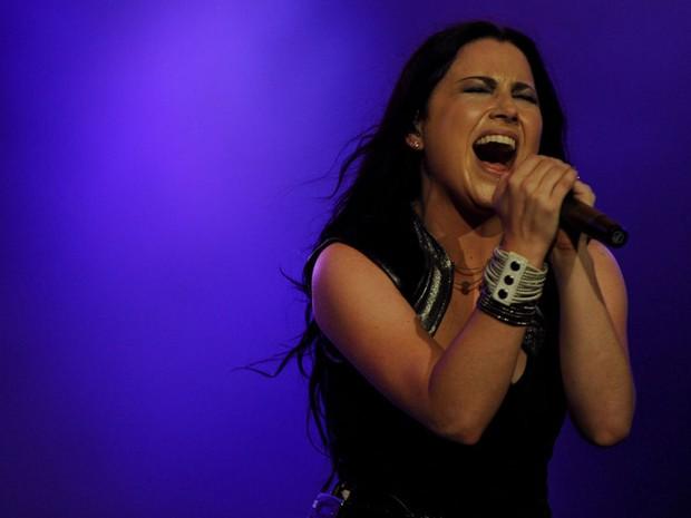 Amy Lee era uma atração à parte na apresentação do Evanescence (Foto: Flavio Moraes/G1)