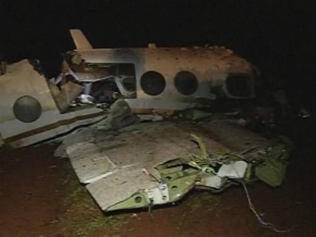 Avião partiu de Maringá, com destino ao aeroporto de Congonhas em São Paulo (Foto: Reprodução/TV Tem)