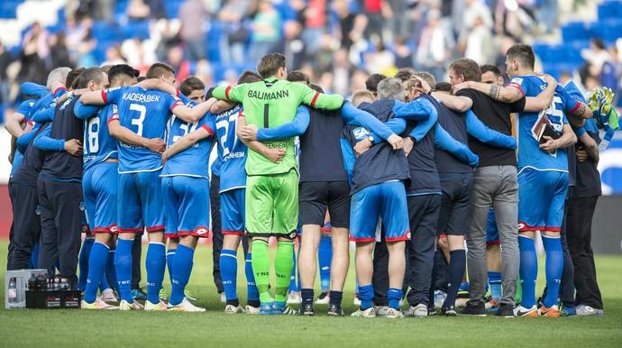 Hoffenheim comemoração permanência Bundesliga (Foto: Reprodução / Facebook)