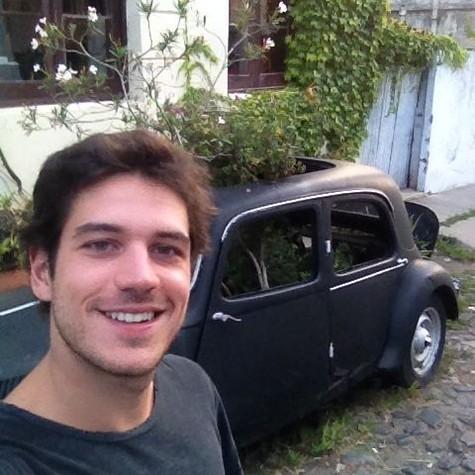 Marco Pigossi no Uruguai (Foto: Arquivo pessoal)