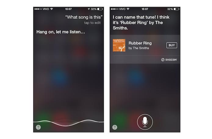 Detectando uma música com a Siri do iOS (Foto: Reprodução/Marvin Costa)