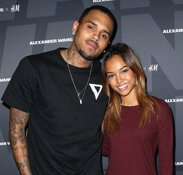 Chris Brown e sua ex, a atriz Karrueche Tran (Foto: Getty Images)