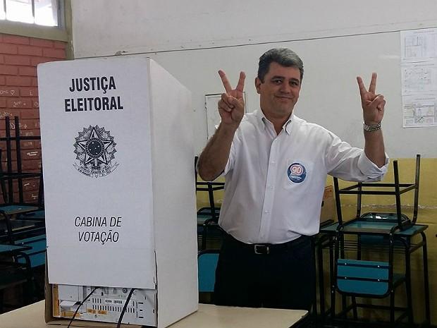Marquinho Clementino candidatoa a prefeito de Divinópolis (Foto: Anna Lúcia Silva/G1)