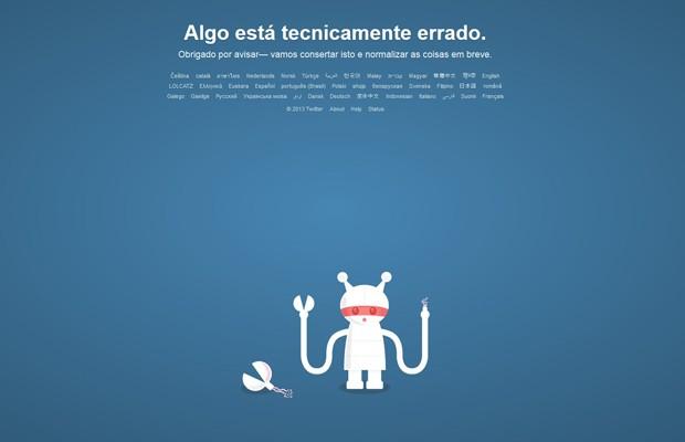 Site do Twitter não podia ser acessado na tarde desta quarta-feira (4). (Foto: Reprodução)