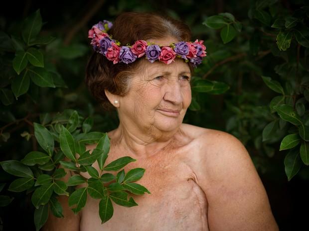 Neta fez ensaio de avó, em Iracemápolis, e imagens viralizaram na internet (Foto: Natália Alves/Arquivo pessoal)