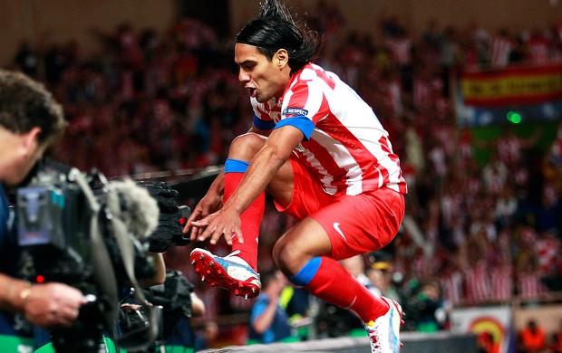 Falcao comemoração gol Atlétido de Madri contra Chelsea (Foto: Reuters)