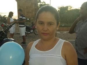 Francisca contou que o crime chocou a população da cidade  (Foto: Ronaldo Mota/Arquivo Pessoal)