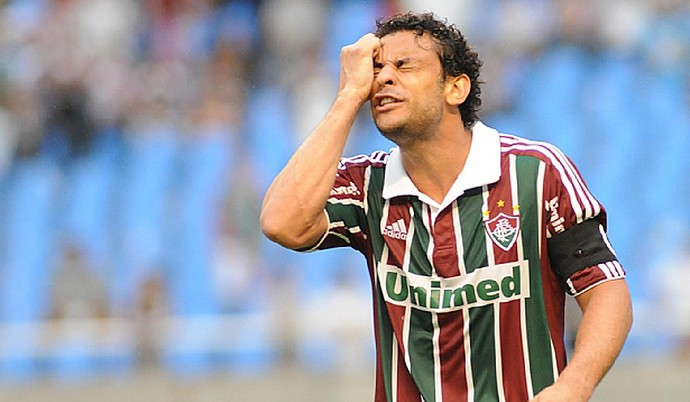 Fred lamenta empate do Fluminense (Foto: Photocâmera)
