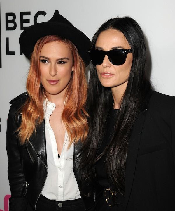 Demi Moore com a filha mais velha, Rumer WIllis (Foto: Getty Images)