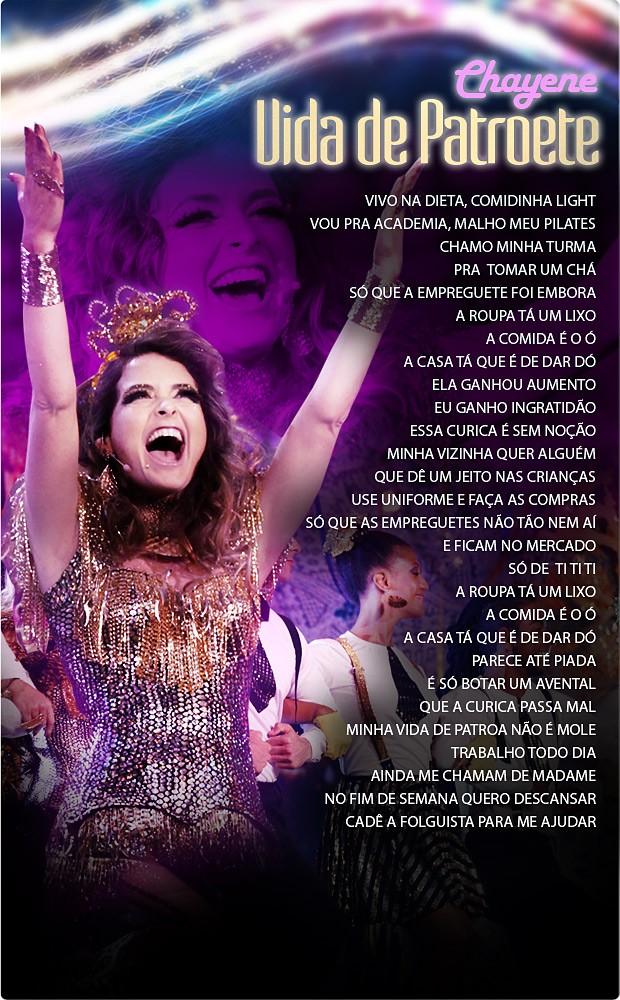 letra vida de patroete (Foto: Cheias de Charme / TV Globo)