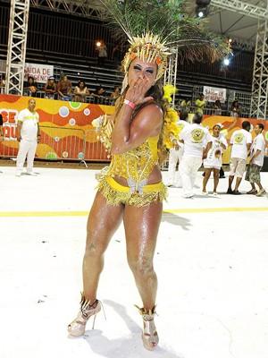 Veruska durante desfile em 2013 (Foto: Veruska Pereira/Arquivo Pessoal)