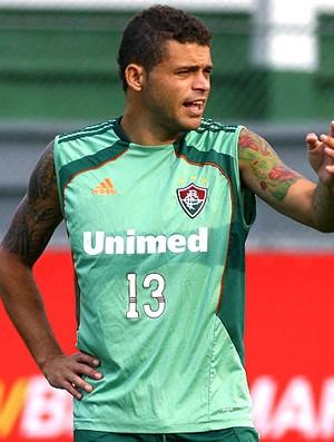 Edinho no treino do Fluminense (Foto: Agência Photocâmera)