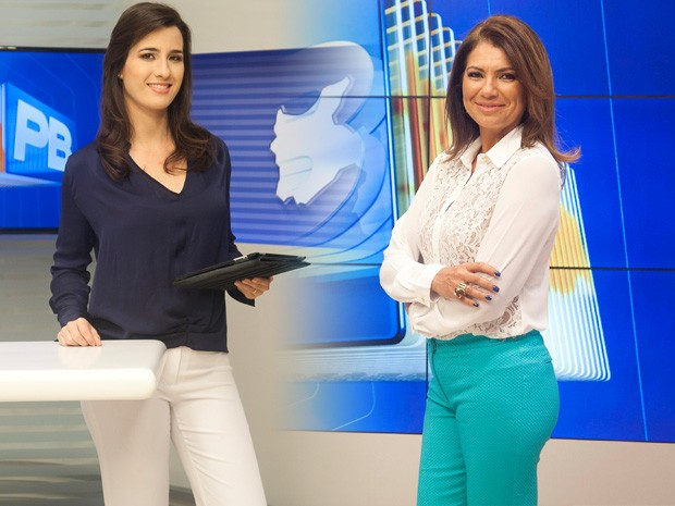 Patrícia Rocha e Edilane Araújo apresentam o JPB 1ª e 2ª Edição, respectivamente (Foto: Felipe Gesteira/TV Cabo Branco)