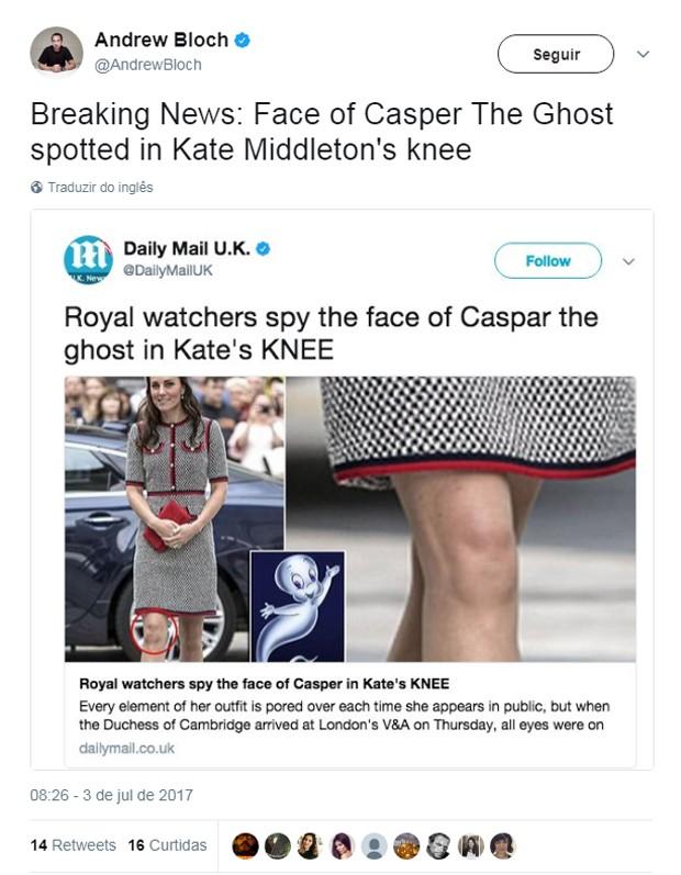 Joelhos de Kate Middleton chamam a atenção na web (Foto: Reprodução)