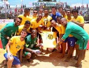 Brasil venceu Paraguai e comemorou a marca de 250 jogos de Daniel Zidane  (Foto: Nilton Rolin / Itaipu Binacional)