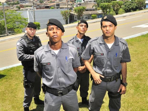 Quatro amigos de infância realizam sonho de serem policiais no Espírito Santo (Foto: Marcelo Prest/A Gazeta)