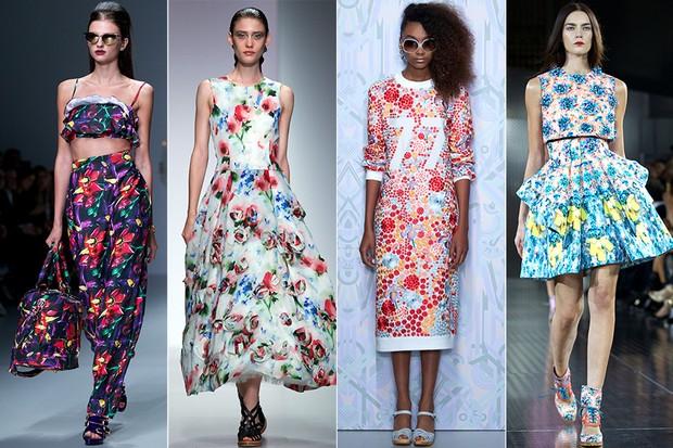 Tendências da Semana de Moda de Londres - Floral (Foto: AFP / Agência)